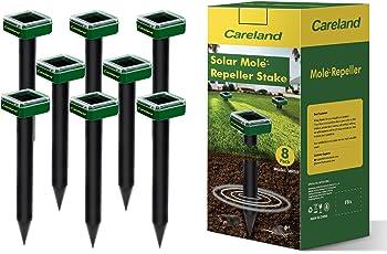 Careland Solar Sonic Mole Repellent 8 Spikes