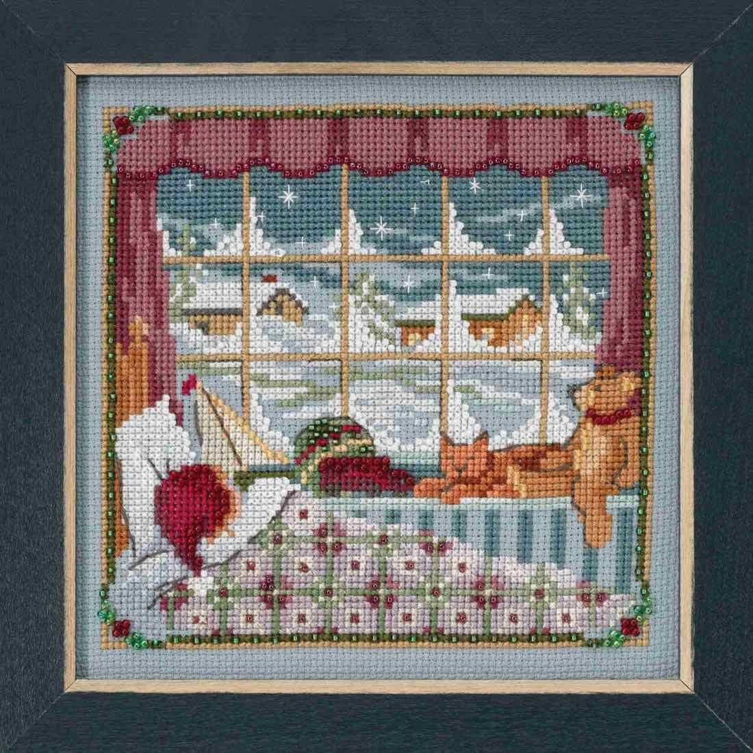 Children were Nestled Beaded Counted Cross Stitch Kit Mill Hill 2018 A Visit from St Nick Quartet Series MH171832