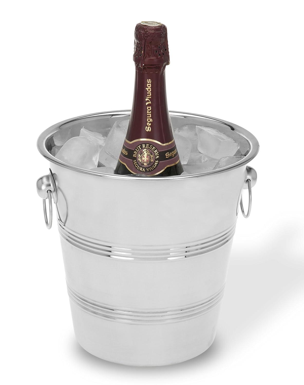 Viscio Trading 171429 Eisk/übel f/ür Champagner 22/cm aus Edelstahl