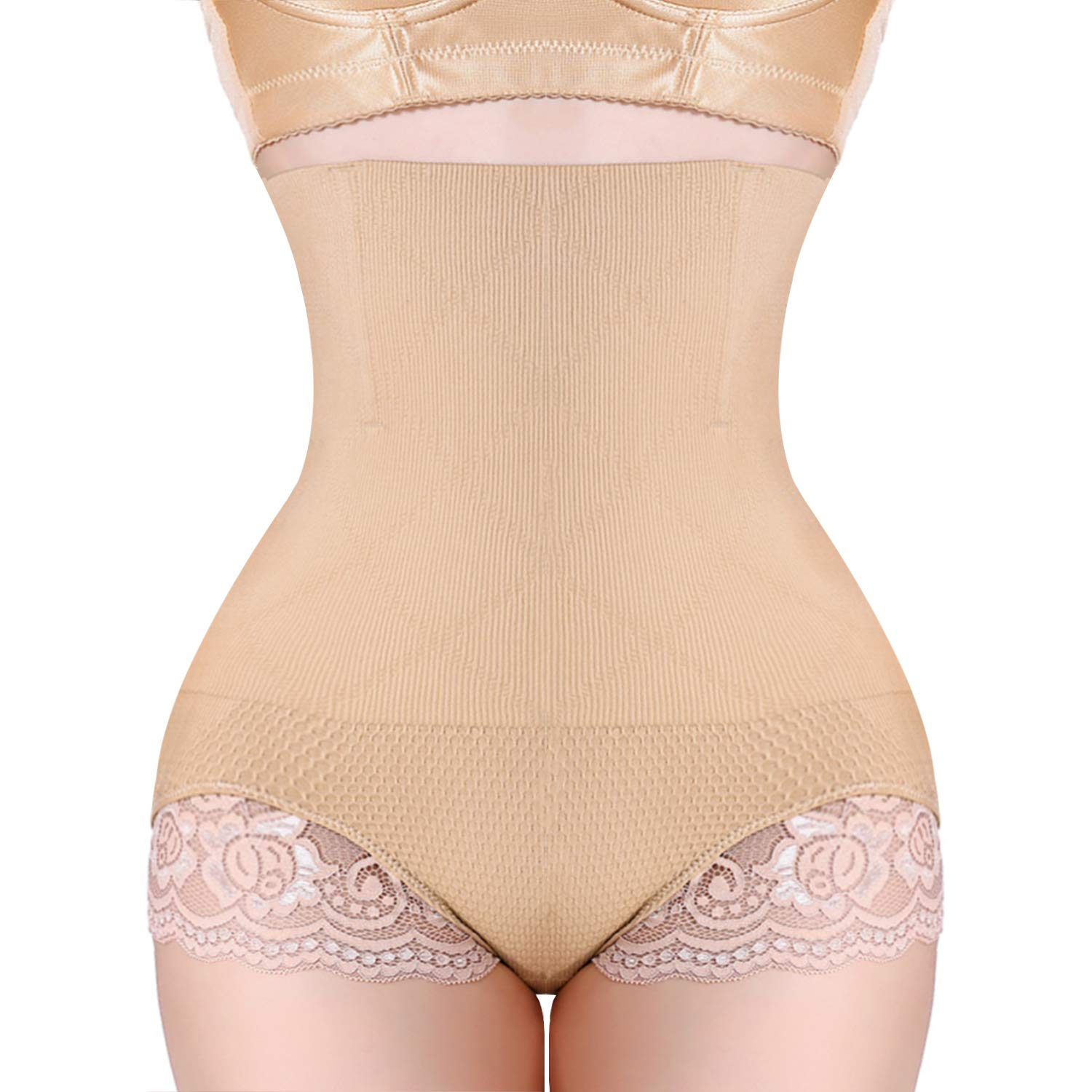 37ad97ee30 Nimiah Tummy Control Panty Body Shaper High Waist Cincher Slim Butt Lifter  Seamless Waist Trainer at Amazon Women s Clothing store