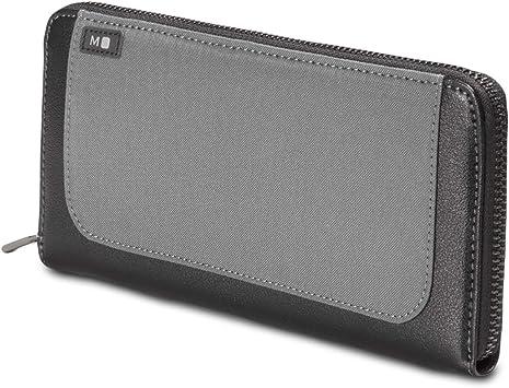 Moleskine Lineage Womens Large Leather Zip Wallet Purse Black