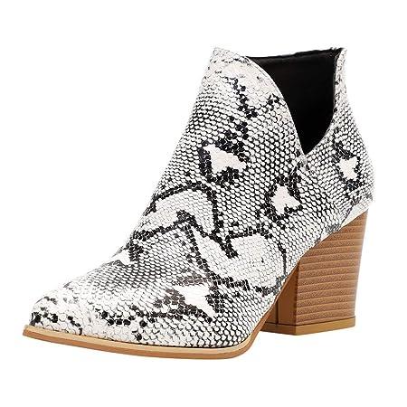 ღLILICATღ Zapatos Mujeres Casuales Botas Mujer Tacones Vintage ...