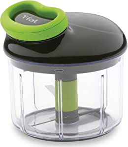 T-Fal 84020 4 Cup Capacity Rapid Chopper Easy Handheld Pull String Manual Food Processor Fruit Vegetable Ingredient Dicer Kitchen Appliance