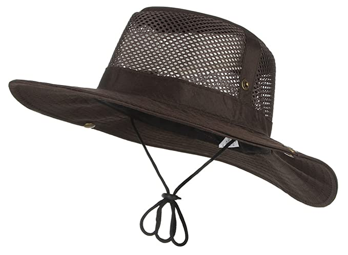 Summer Men Outdoor Fishing Hiking Foldable Wide Brim Sun Hats Fisherman Cap  Sombrero Military Boonie Hat c35a4de36aa