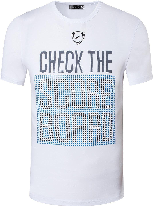 jeansian Herren Sport Tee Shirt T-Shirt Tshirt Tops Dry Fit Function Kurzarm Laufen Workout LSL182