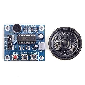 Cylewet - ISD1820 Módulo Altavoz Grabación, Reproducción de Audio Micrófono Voz Sonido para Arduino CLW1022