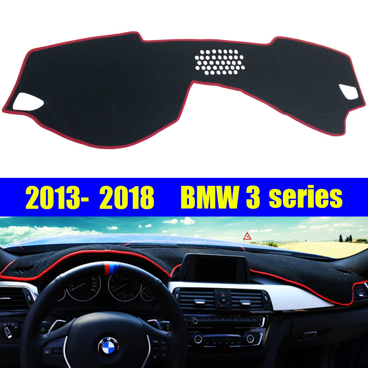 BLACK fits 2008-2012 FORD ESCAPE SUEDE DASH COVER MAT DASHBOARD PAD