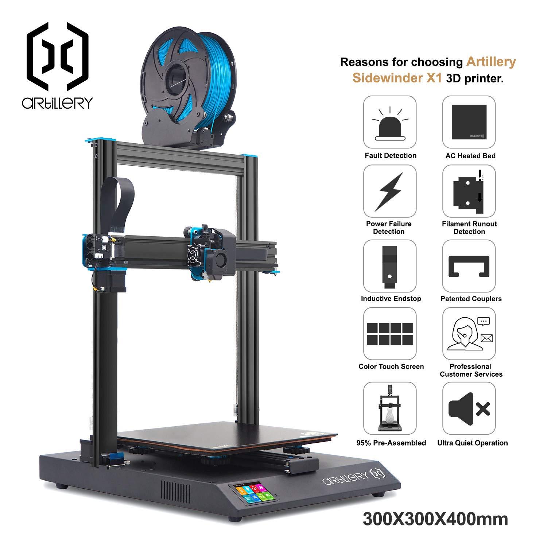 Artillery Sidewinder X1 SW-X1 impresora 3D: Amazon.es: Industria ...