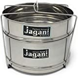 Jagani Steels 304 Quality Stainless Steel Stackable Separator with Wire Lifter for 5 L Cooker(Silver) - Set of 2