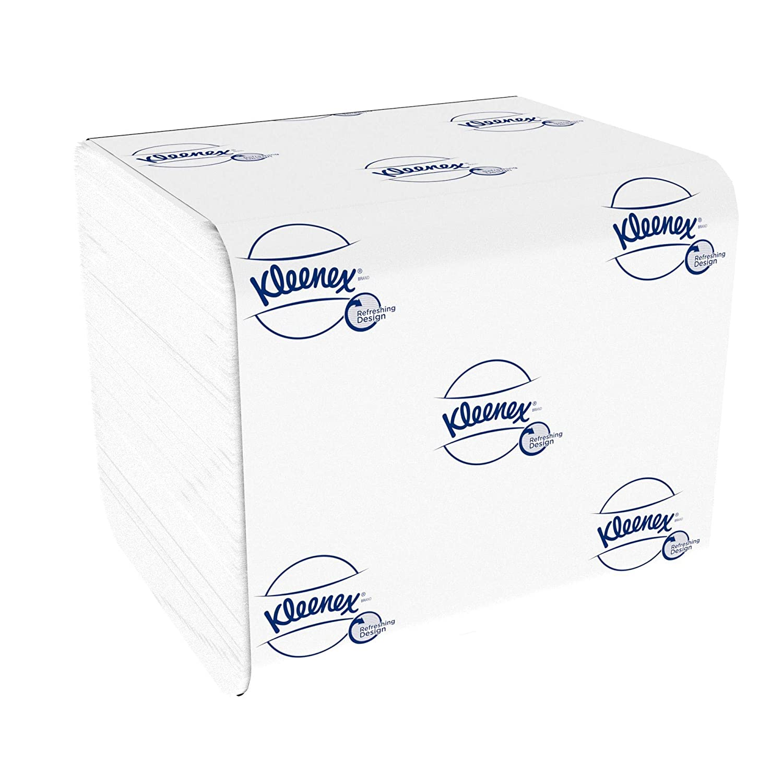Kleenex 8408 Papel Higiénico Plegado de 2 Capas, 36 Paquetes de ...