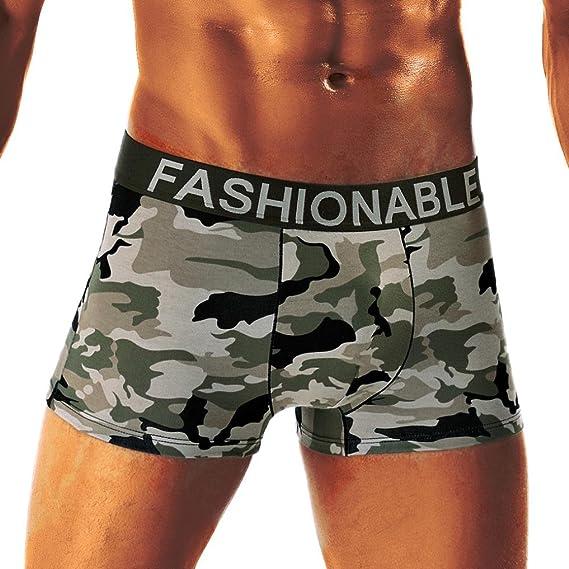 Btruely Herren Calzoncillos para Hombres Camuflaje Pantalones Cortos Hombres Calzoncillos Braguitas Ropa Interior Sexy Suaves