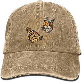 Nifdhkw Cappellino da ghiacciaio da Uomo, monarca, Cappello in Denim Tinto in Filo per Uomo Donna Unisex New10