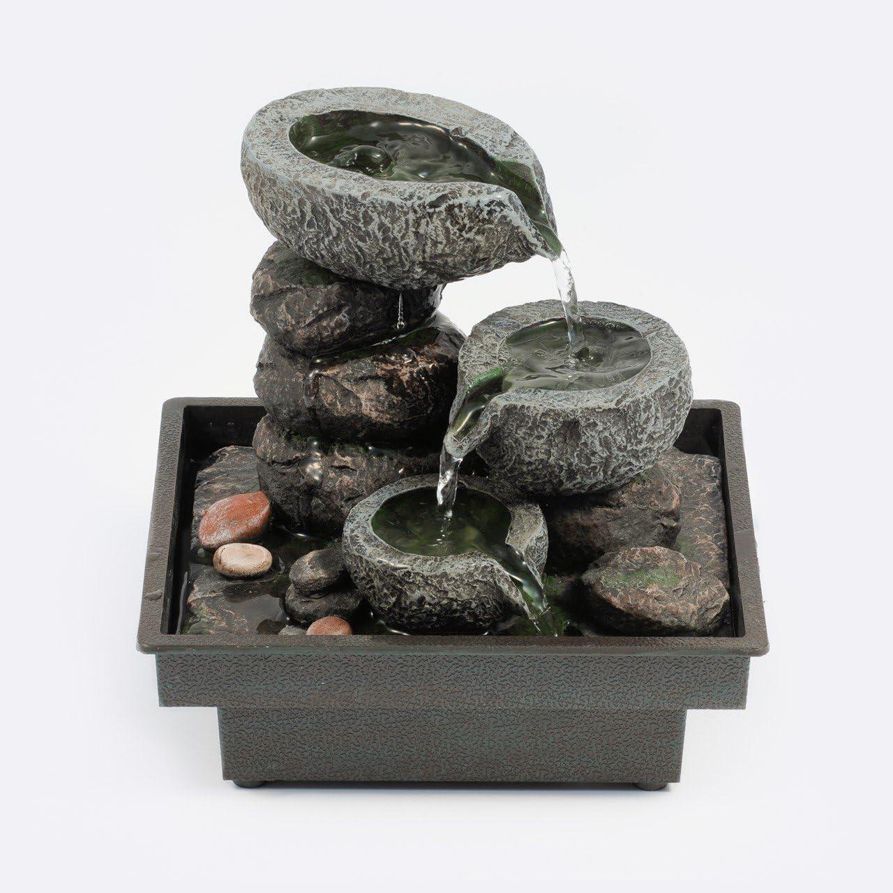 Pajoma 18430 Floating Stones - Fuente de interior, poliresina, 25 cm