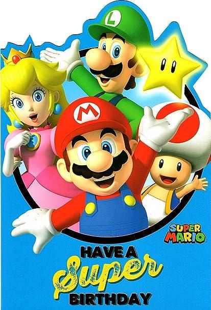 Amazon Super Mario Birthday Card Office Products