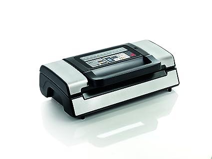 Laica VT3120 Envasadora, Sellador al vacío para conservación de Alimentos Secos y húmedos, compacta, automática, 130 W, Acero, Negro, Color blanco