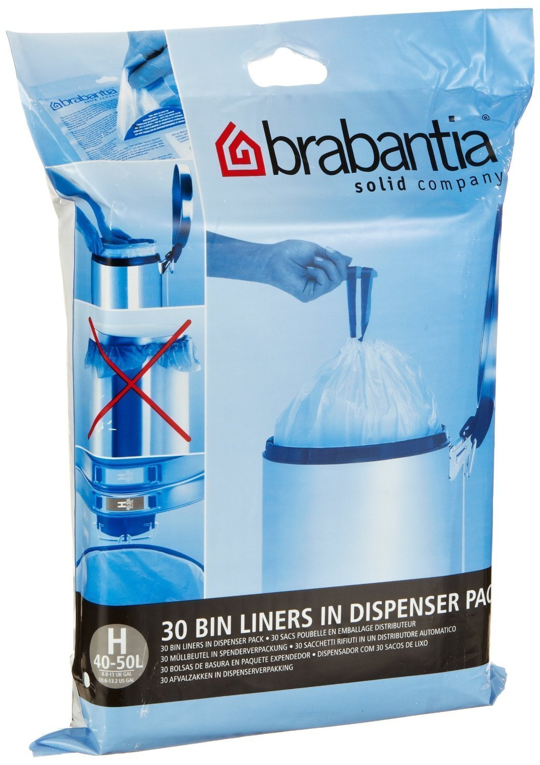 Amazon.com: Brabantia Bin Liner H,40-50 Litre-40 Bags (1) by Brabantia: Home & Kitchen