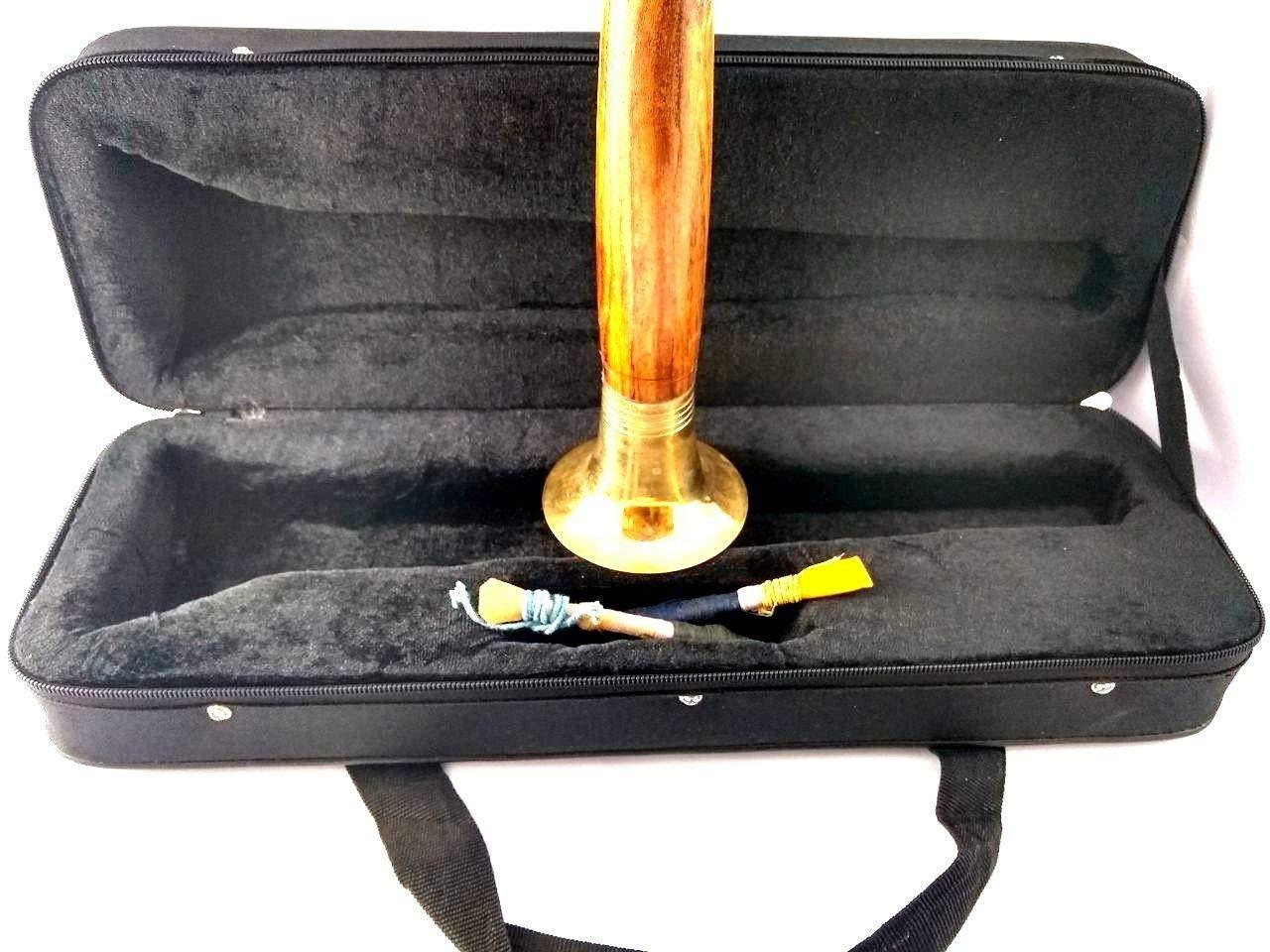 indian shahnai Shehnai Music Instrument with reed & box shenoy sanai shenai
