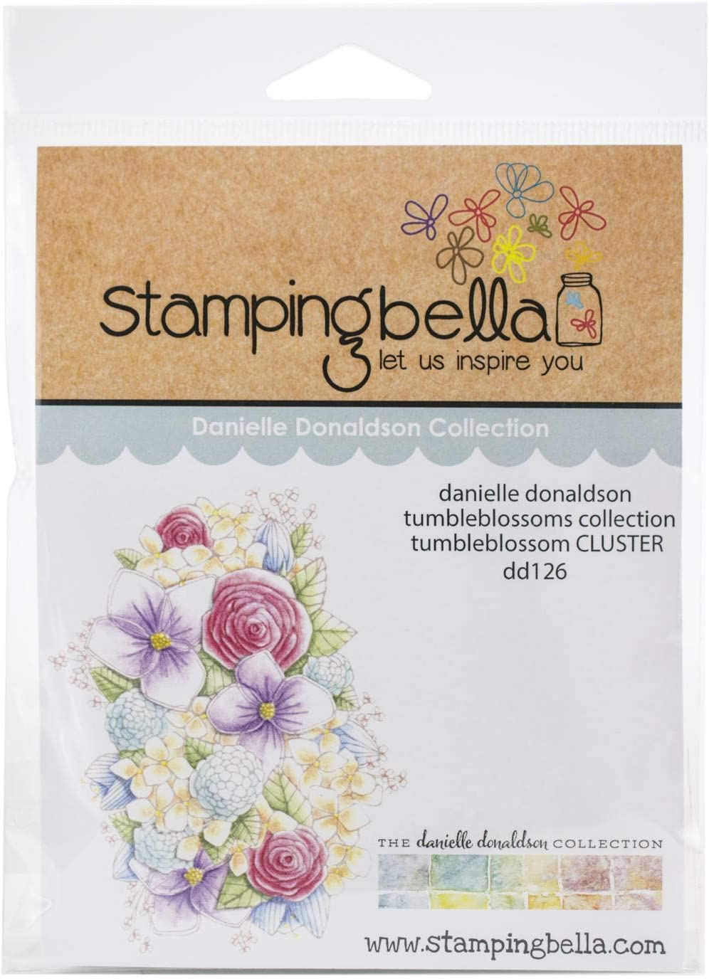 Stamping Bella Danielle Donaldson Stamps-Tumbleblossom Cluster Clear