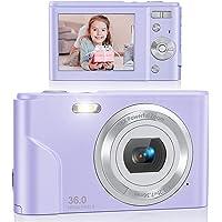 Digital Camera, Lecran FHD 1080P 36.0 Mega Pixels Vlogging Camera with 16X Digital Zoom, LCD Screen, Compact Portable…
