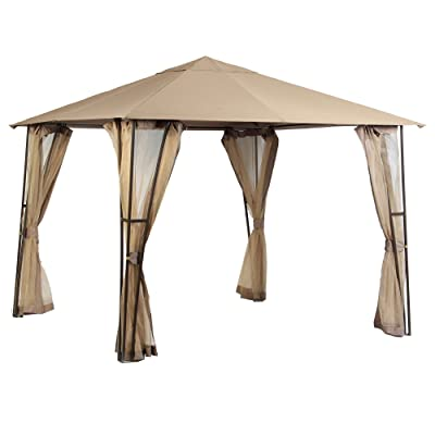 Garden Winds Replacement Canopy Top Cover for The Altoona 10' x 10' Gazebo - RipLock 350 : Garden & Outdoor
