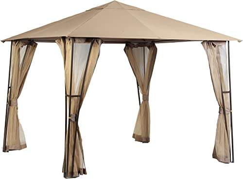 Garden Winds Replacement Canopy Top Cover for The Altoona 10 x 10 Gazebo – RipLock 350