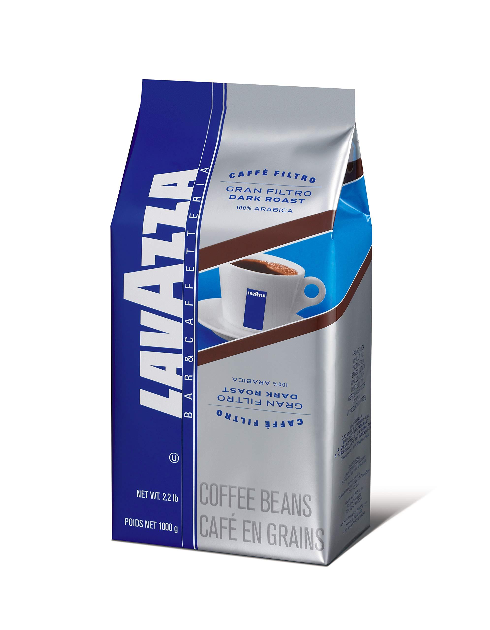 Lavazza Gran Filtro Whole Bean Coffee Blend, Dark Roast, 2.2-Pound Bag by Lavazza