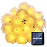 LUCKLED Solar String Lights, 23ft 50 LED Fairy Chuzzle Ball Outdoor Lights Decorative Lighting for Garden, Home, Patio, Lawn, Party and Holiday Decorations (Warm White)