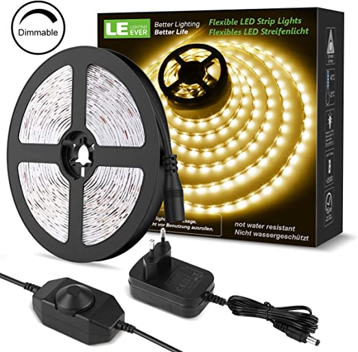 Lichtband 12V selbstklebend mit 3528 smd LEDs warmweiss Modellbau Beleuchtung