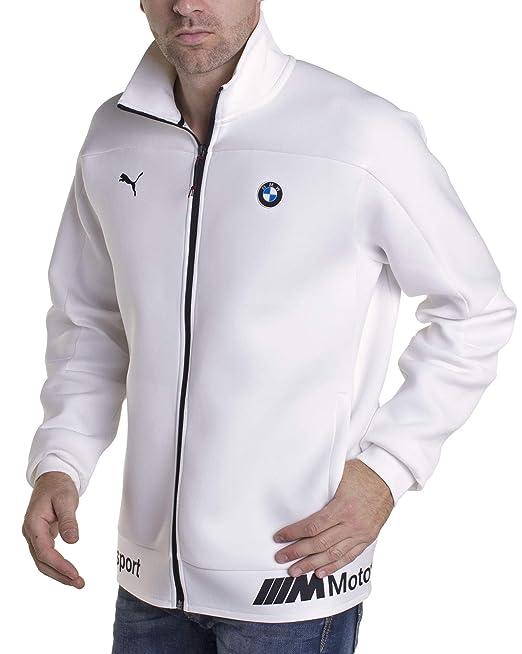 0dd1ccb4b780 Puma BMW MMS Life Sweat Jacket White  Amazon.in  Clothing   Accessories