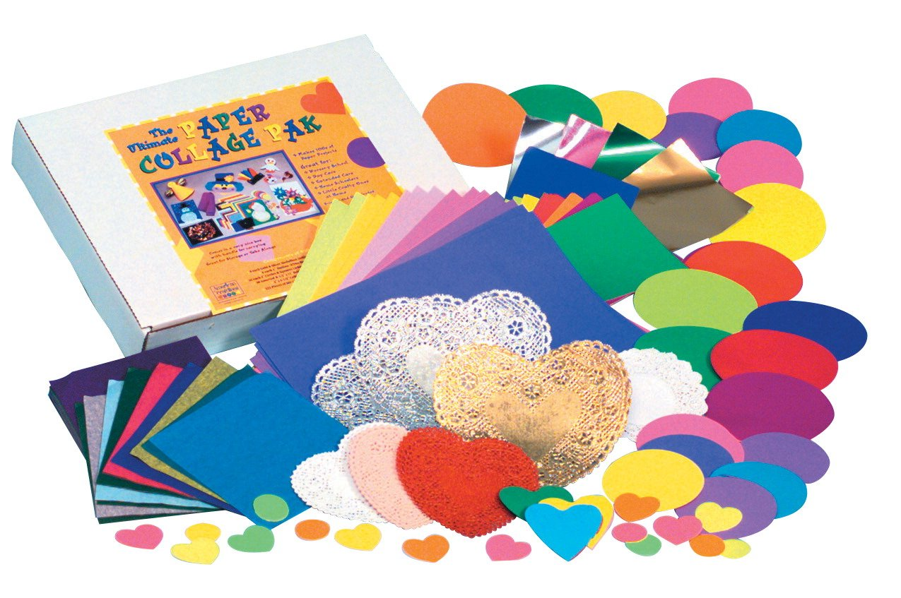 Hygloss the Ultimate Die-Cut Paper Collage Pack, 1100 Sheets, Assorted Color
