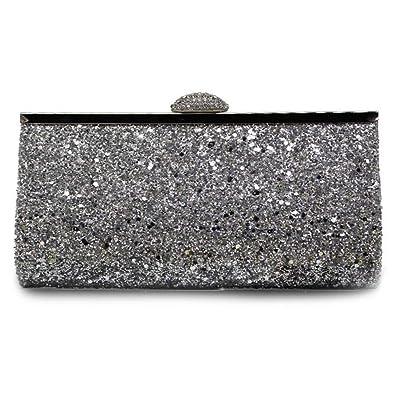 13df0e542c Verus Fashion Womens Diamante Glitter Clutch Bag Sparkly Silver Gold Black  Evening Bridal Prom Party Handbags Purse (Silver): Amazon.co.uk: Shoes &  Bags