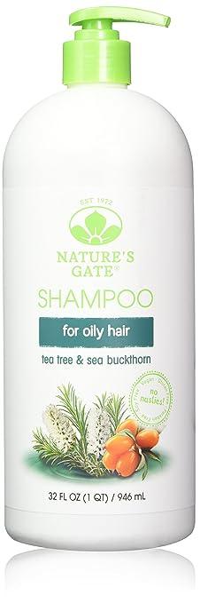 3. Nature's Gate Tea Tree + Sea Buckthorn Calming Shampoo - Best Strengthening Clarifying Shampoo