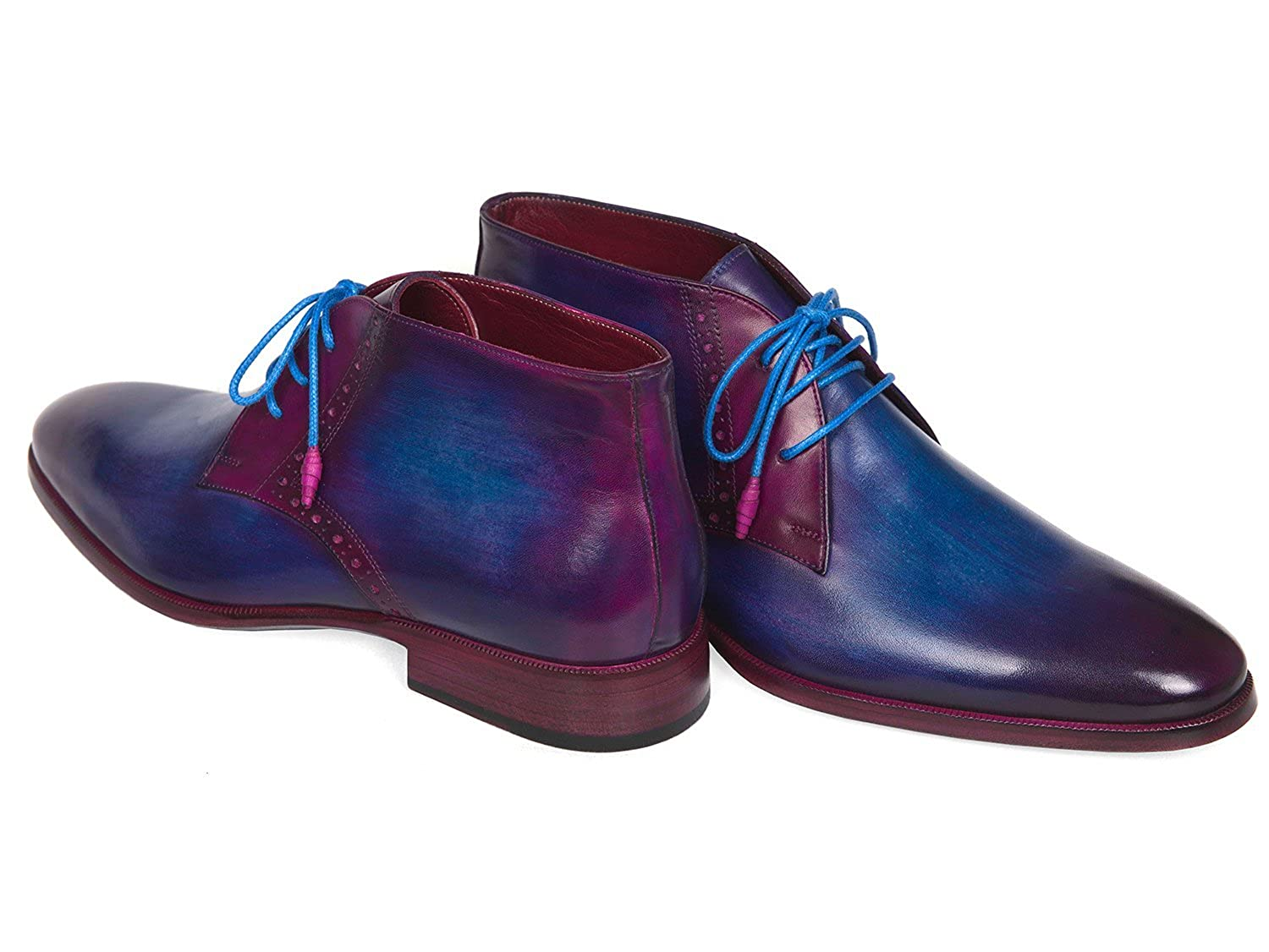 549c44cd42a75 Amazon.com | Paul Parkman Men's Chukka Boots Blue & Purple Shoes (ID ...
