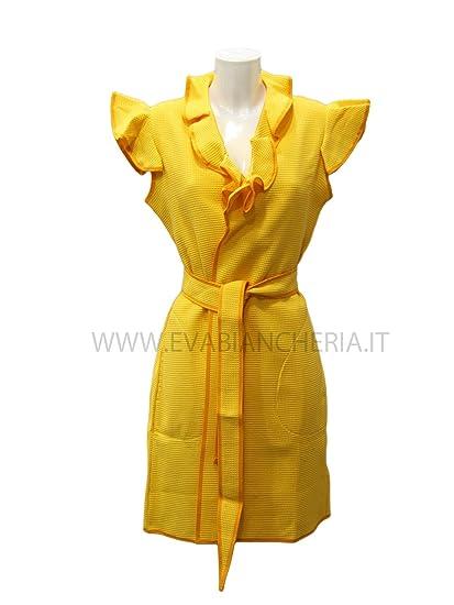 56f56b39fd LUNA DI GIORNO ACCAPPATOIO Donna Corto in Nido d'ape Senza Maniche:  Amazon.co.uk: Clothing