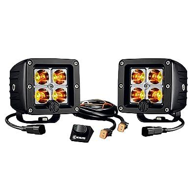 "KC HiLiTES 315 C-Series Amber 3"" C3 LED Pack System, Pair: Automotive"