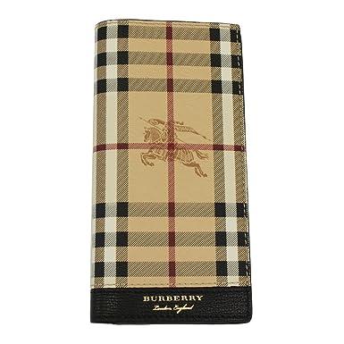 Burberry portefeuille porte-monnaie homme en cuir Continental Cavendish noir b9fc40d1f6c2