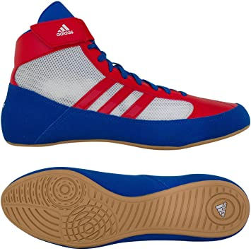 Amazon.com: Adidas HVC Youth Laced Wrestling Shoes Blue/Red/White ...