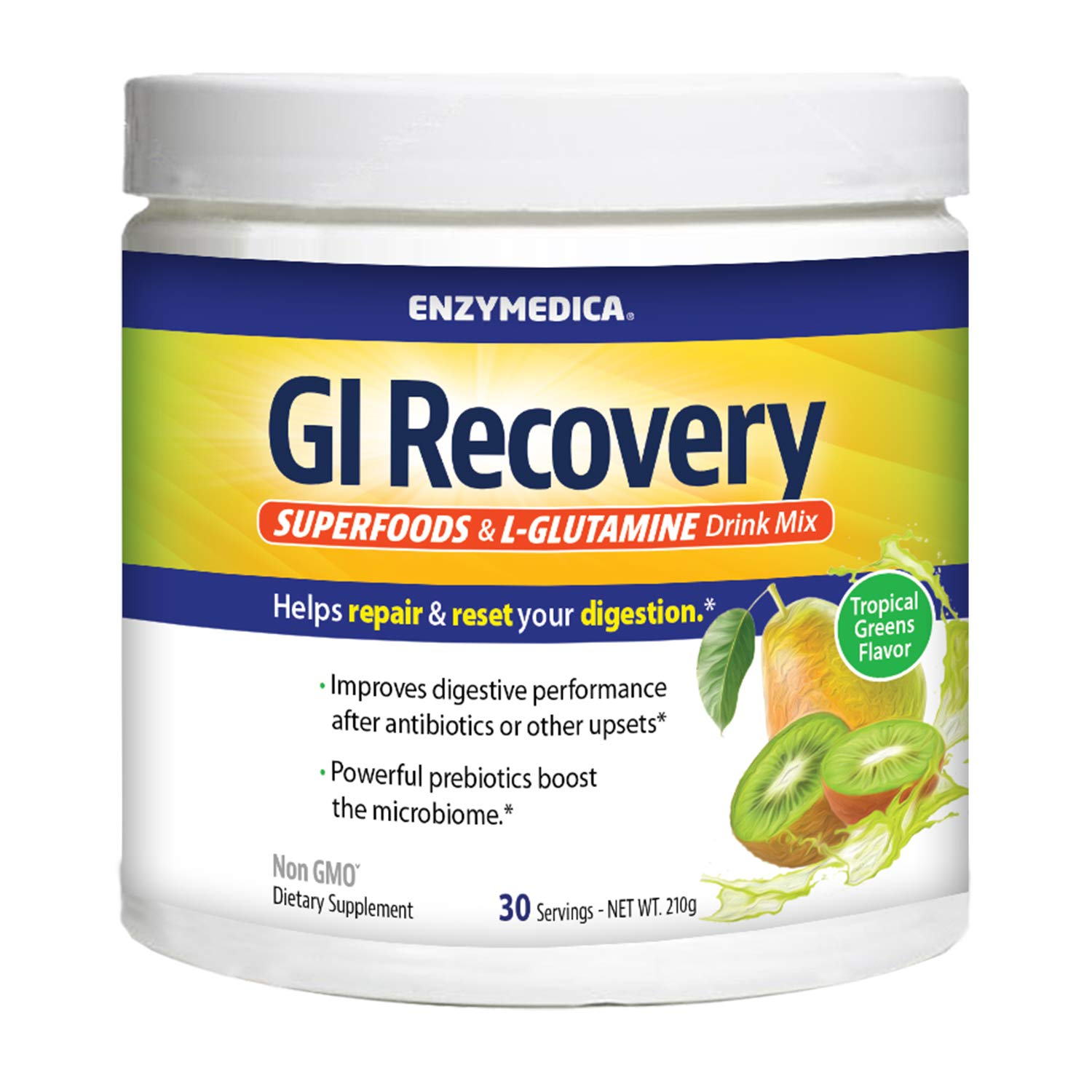 Enzymedica, GI Recovery Superfoods & Glutamine Drink Mix, 30 Servings which is more descriptive and reflects the title on the label by Enzymedica