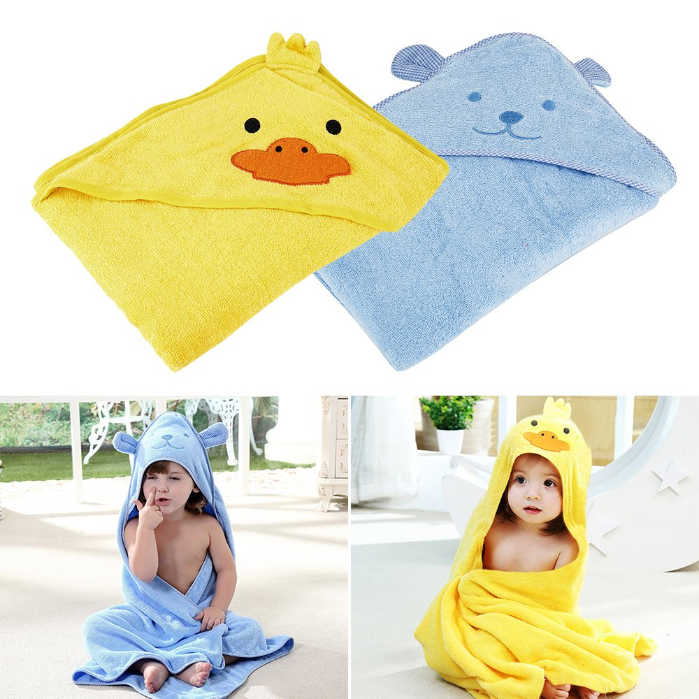 Organic Baby Hooded Towel Extra Soft and Thick Antibacterial and Hypoallergenic Bamboo Bath Towel for Infant and Toddler (1 Pack, Yellow) Fanatical Purchase