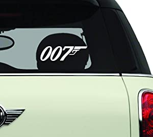 James Bond 007 White SCI-FI/Comics/Games Automotive Decal/Bumper Sticker