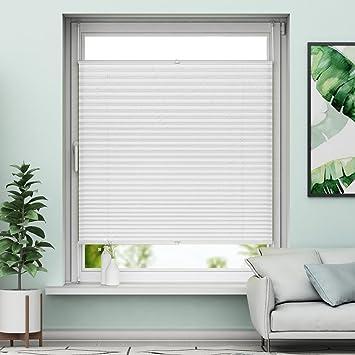 Gut bekannt Amazon.de: Sanfree Plissee Klemmfix Weiß 90x130cm (BxH GU48