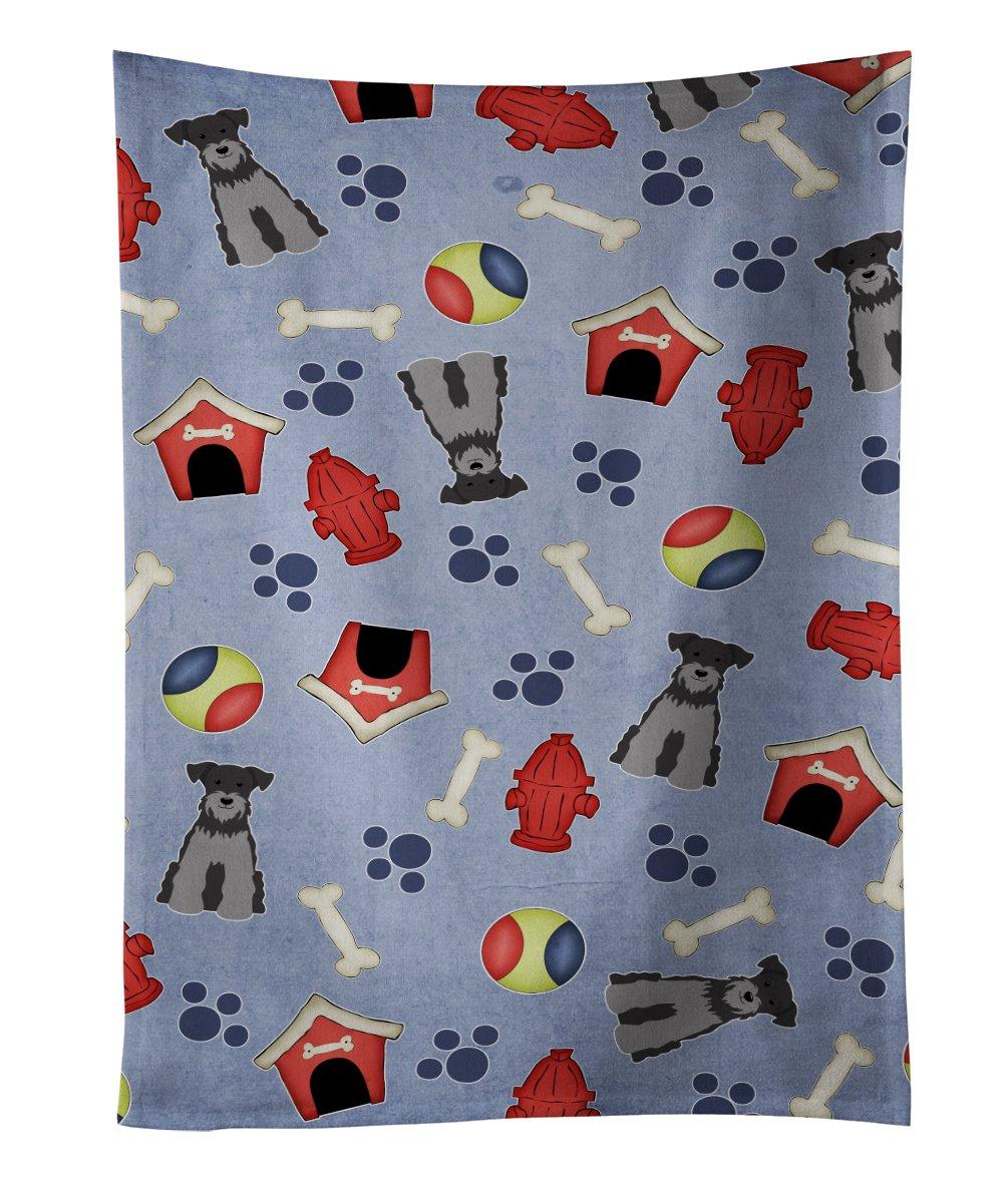 Multicolor 25 x 15 Carolines Treasures BB2723KTWL Dog House English Foxhound Kitchen Towel
