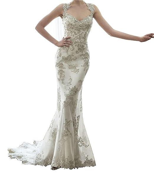 dressvip - Vestido de novia - Escotado por detrás - Mujer blanco Marfil 2