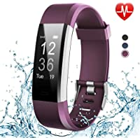 Axloie Fitness Band, YG3plus Smart Band with Heart Rate Sleep Monitor for Men Women Boys Girls Waterproof Fitness Watch Pedometer Calorie Counter Call SMS Reminder for Android iOS