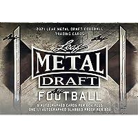$379 » 2021 Leaf Metal Draft JUMBO Football box (TEN Autograph cards/bx)