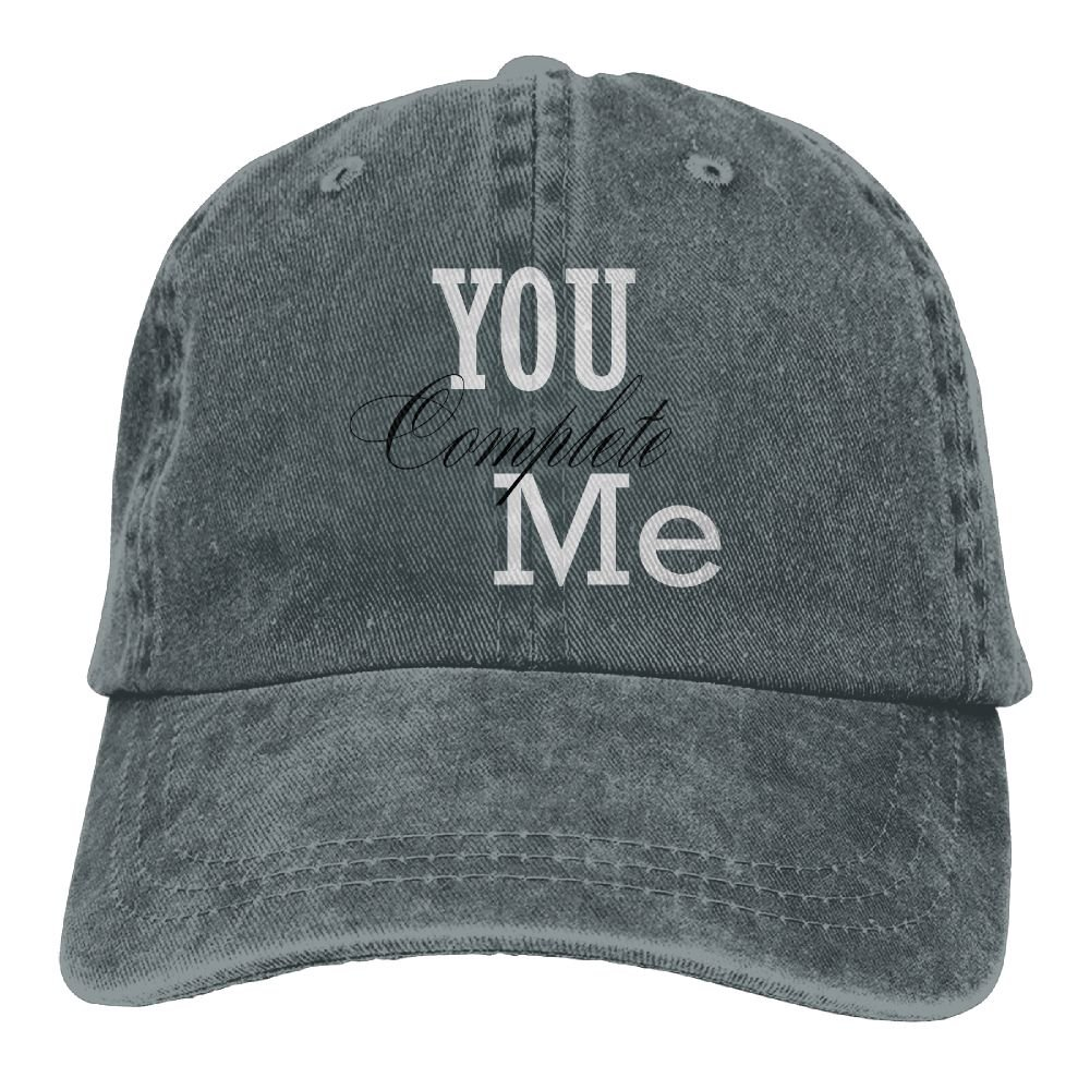 SDFS83 Complete Me Adult Cowboy Hat Baseball Cap Adjustable Athletic Printed Funny Hat For Men and Women
