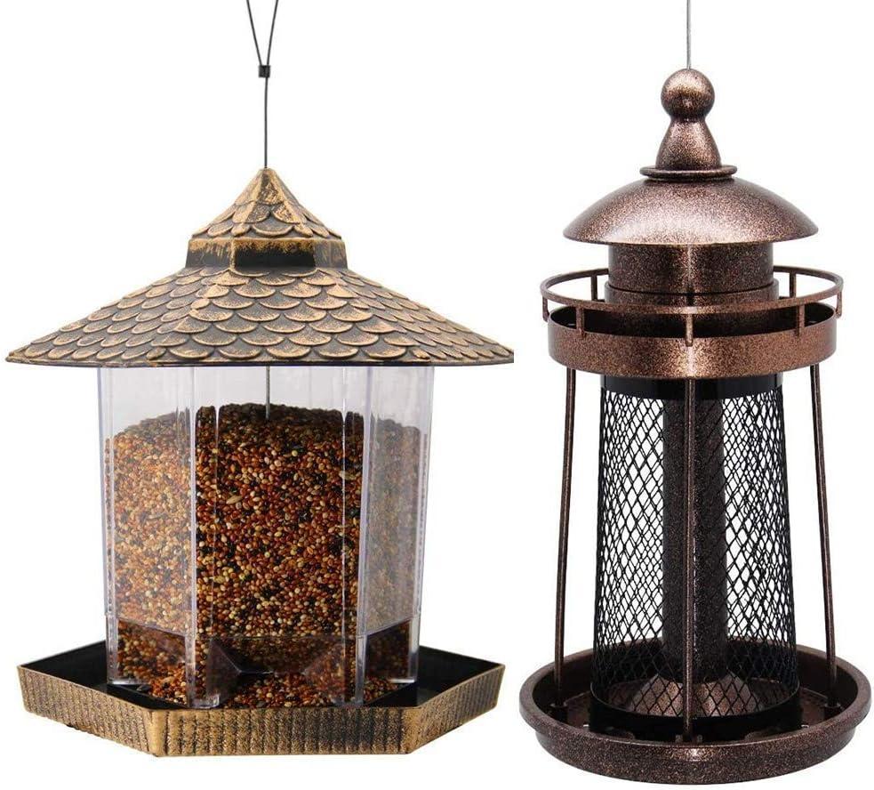 Twinkle Star Wild Bird Feeder Hanging for Garden Yard Outside Decoration | Lighthouse Shaped Bird Feeder