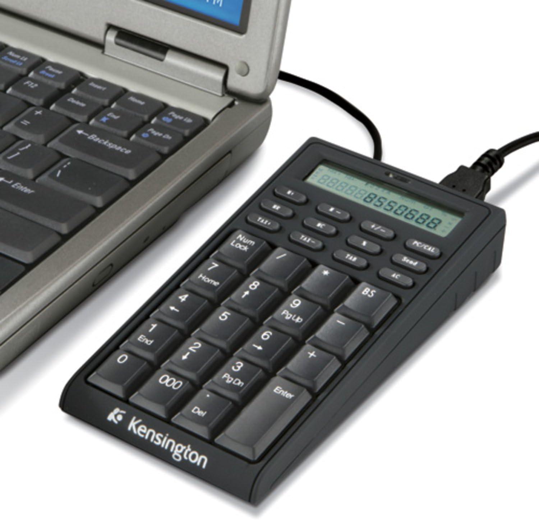 Kensington Notebook Keypad/Calculator with USB Hub, 19-Key Pad 72274
