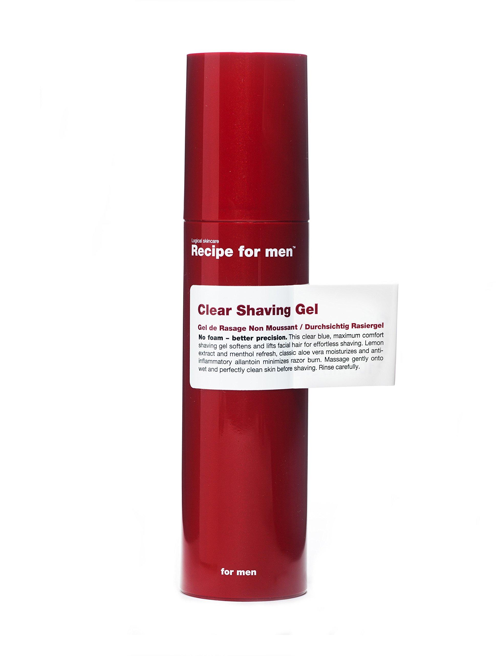 Recipe for Men Clear Shaving Gel, 3.4 Fl Oz by Recipe for Men