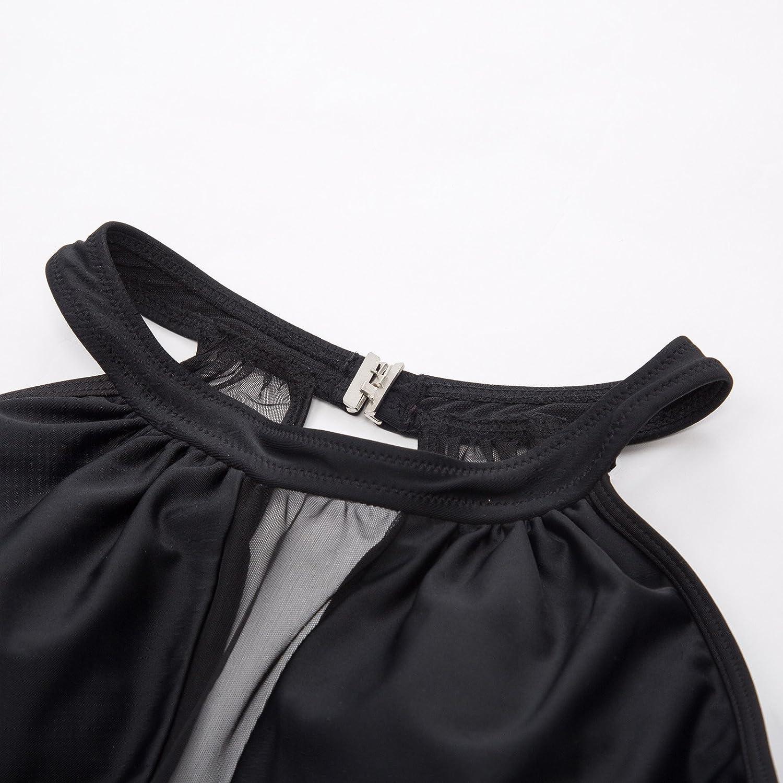 GRACE KARIN Elegant Backless Maillots de Bain Une pi/èce Creux Maillot de Bain Push up Elastique Monokini Femme CL980